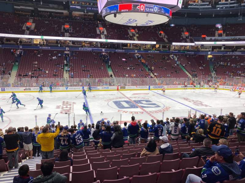 Seating view for Rogers Arena Section 118 Row 18 Seat 3