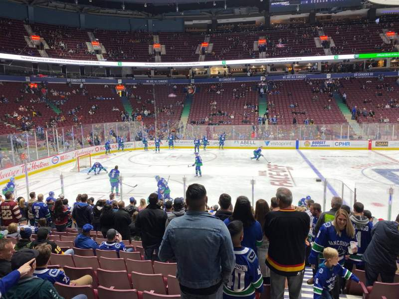 Seating view for Rogers Arena Section 118 Row 13 Seat 101