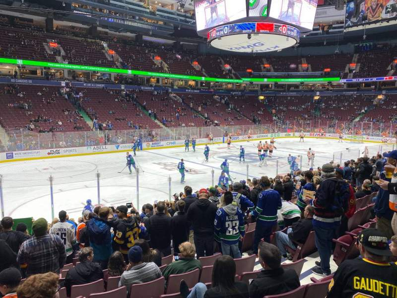 Seating view for Rogers Arena Section 119 Row 14 Seat 106