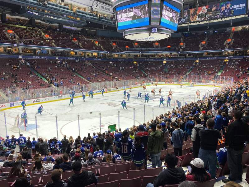 Seating view for Rogers Arena Section 120 Row 17 Seat 6