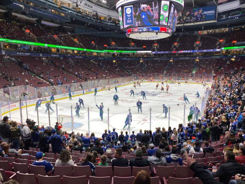 Seating view for Rogers Arena Section 121 Row 16 Seat 104
