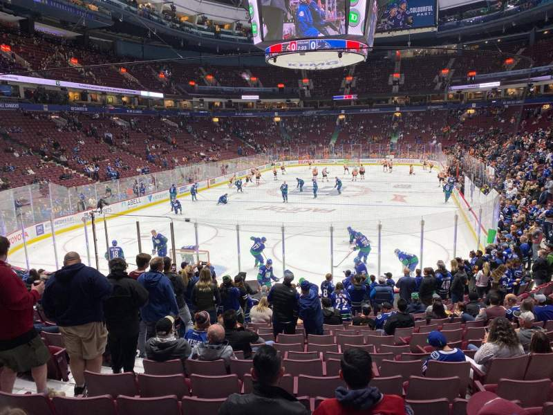 Seating view for Rogers Arena Section 122 Row 16 Seat 7