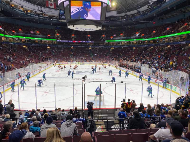 Seating view for Rogers Arena Section 101 Row 15 Seat 7