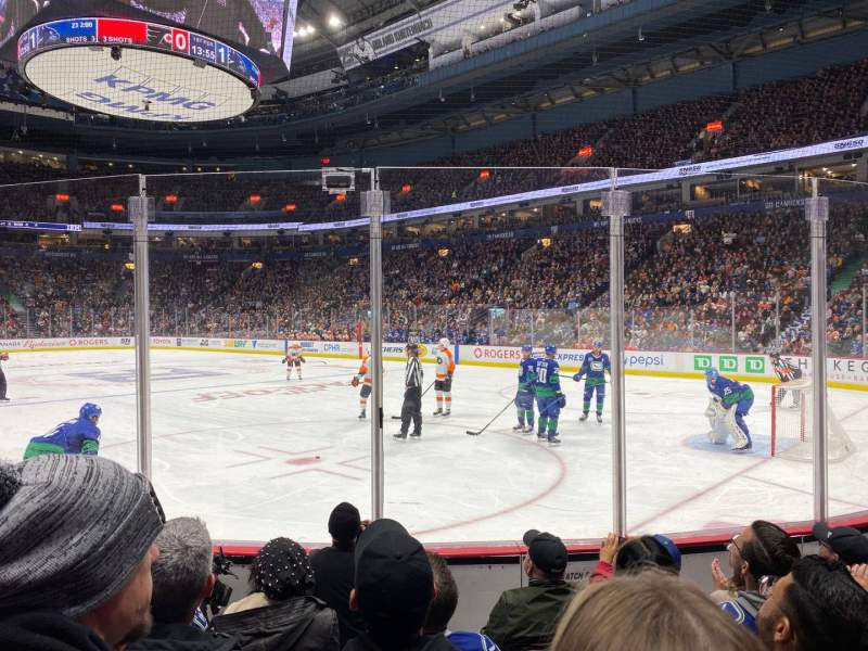Seating view for Rogers Arena Section 103 Row 5 Seat 5