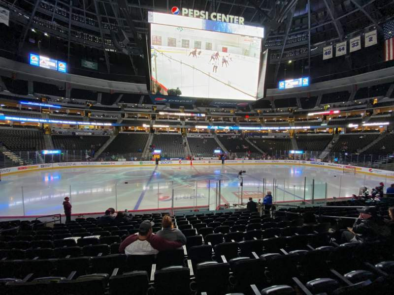 Seating view for Pepsi Center Section 126 Row 13 Seat 9