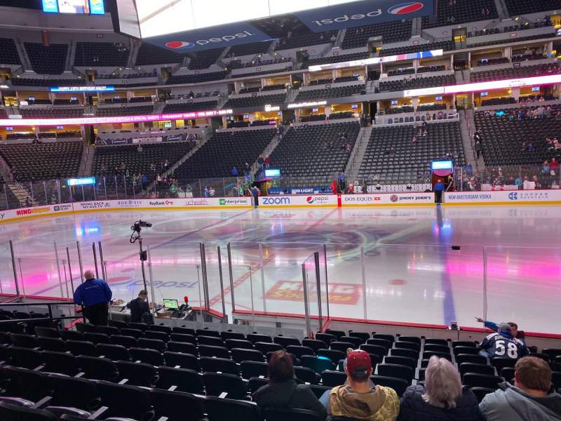 Seating view for Pepsi Center Section 124 Row 12 Seat 6