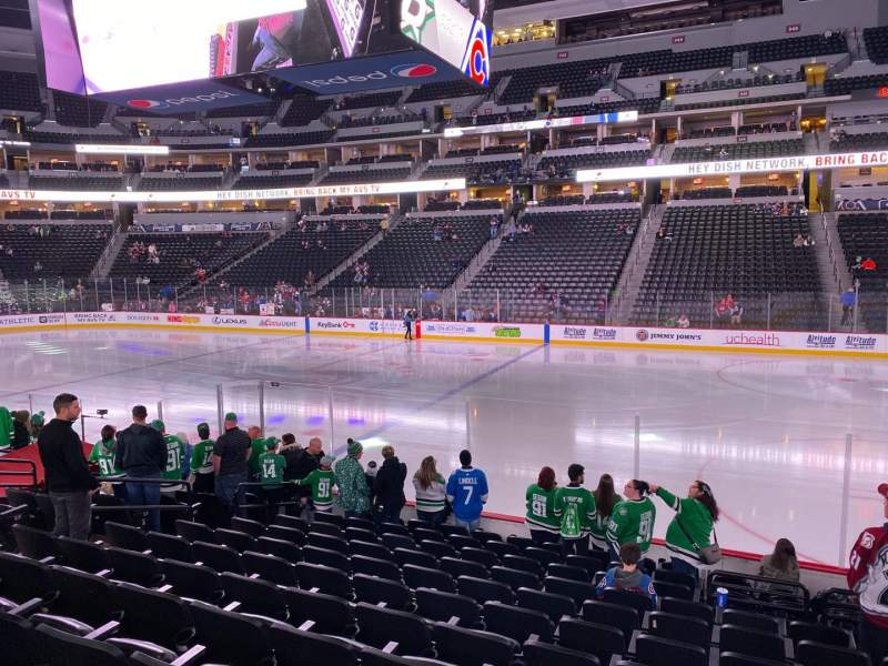 Seating view for Pepsi Center Section 146 Row 12 Seat 10