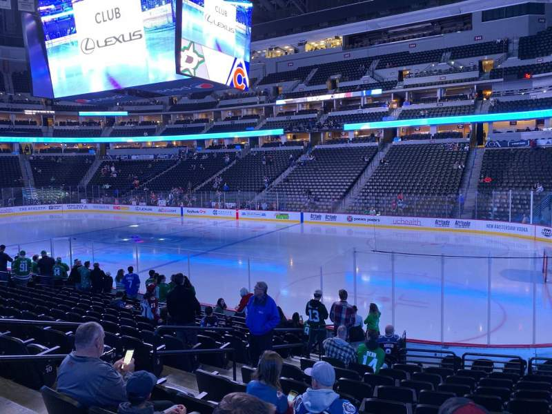 Seating view for Pepsi Center Section 144 Row 14 Seat 17