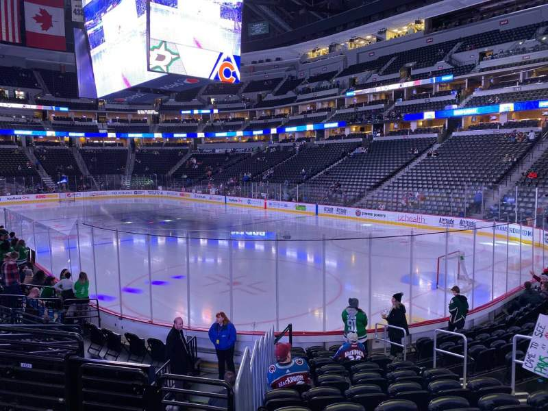 Seating view for Pepsi Center Section 142 Row 12 Seat 8