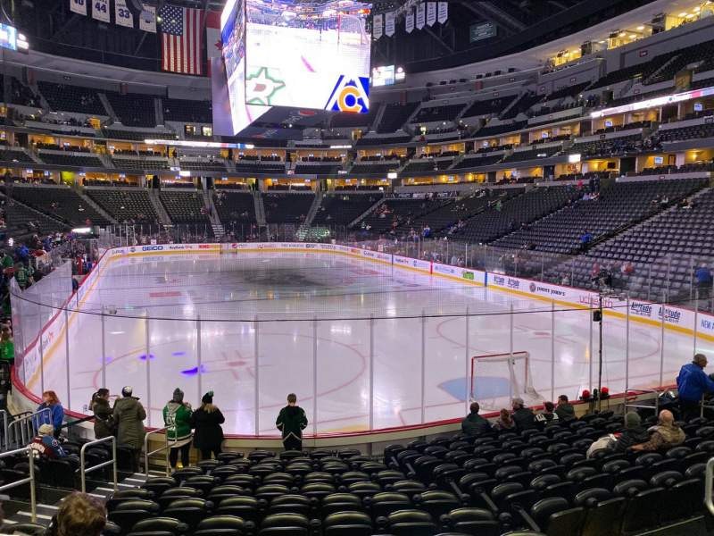 Seating view for Pepsi Center Section 140 Row 13 Seat 5