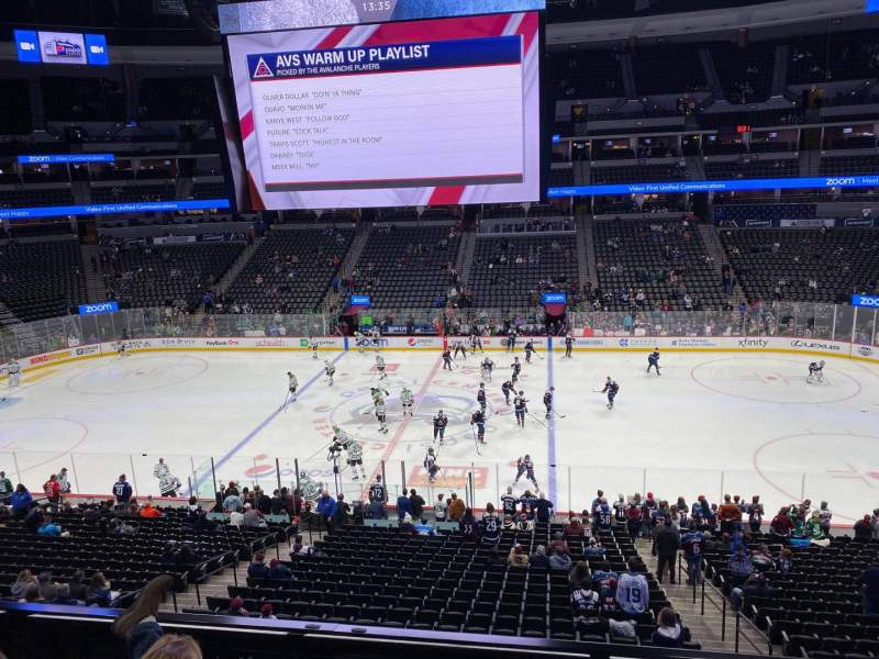 Seating view for Pepsi Center Section 230 Row 3 Seat 5
