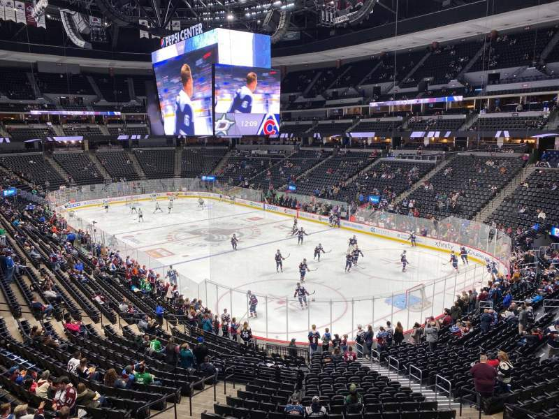 Seating view for Pepsi Center Section 222 Row 1 Seat 6