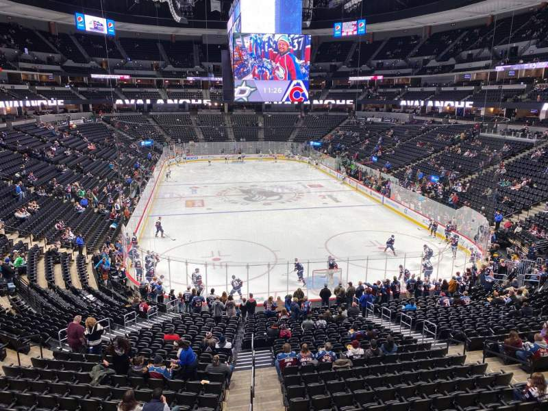 Seating view for Pepsi Center Section 218 Row 1 Seat 6