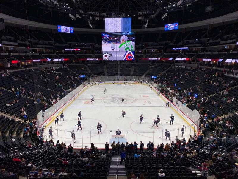Seating view for Pepsi Center Section 216 Row 2 Seat 7