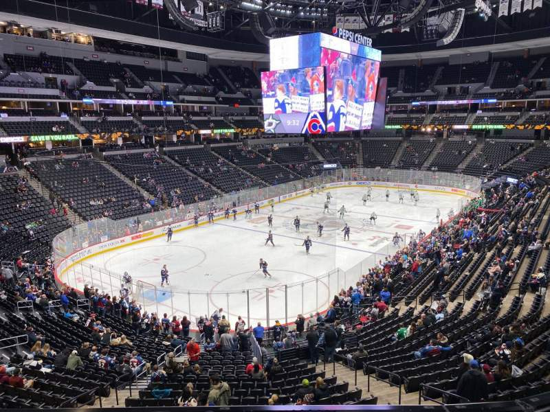 Seating view for Pepsi Center Section 210 Row 3 Seat 11