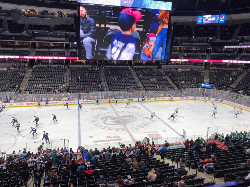 Seating view for Pepsi Center Section 202 Row 2 Seat 14