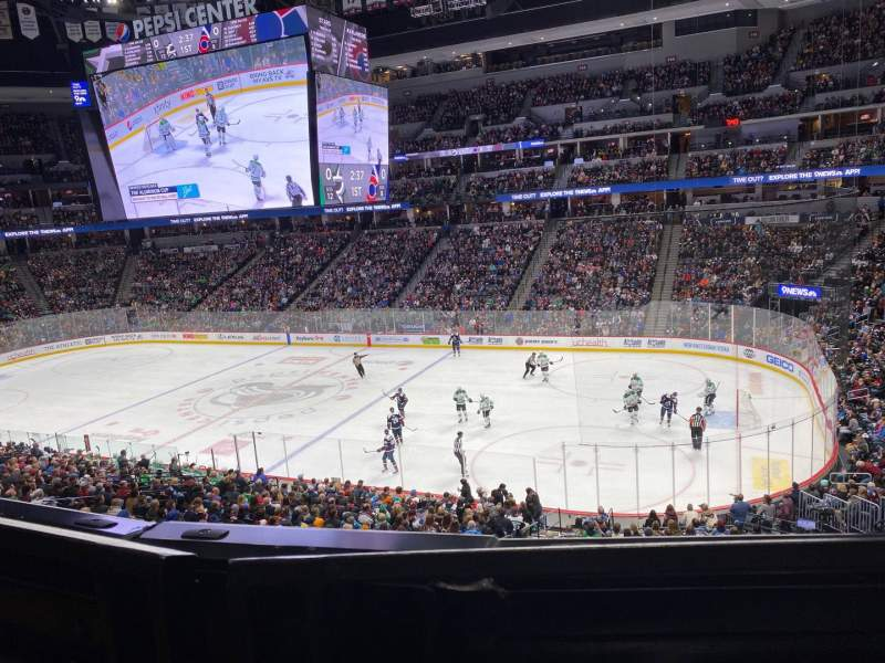 Seating view for Pepsi Center Section 256 Row 1 Seat 7