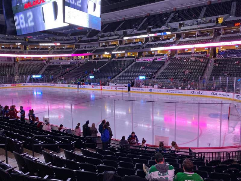 Seating view for Pepsi Center Section 120 Row 12 Seat 10