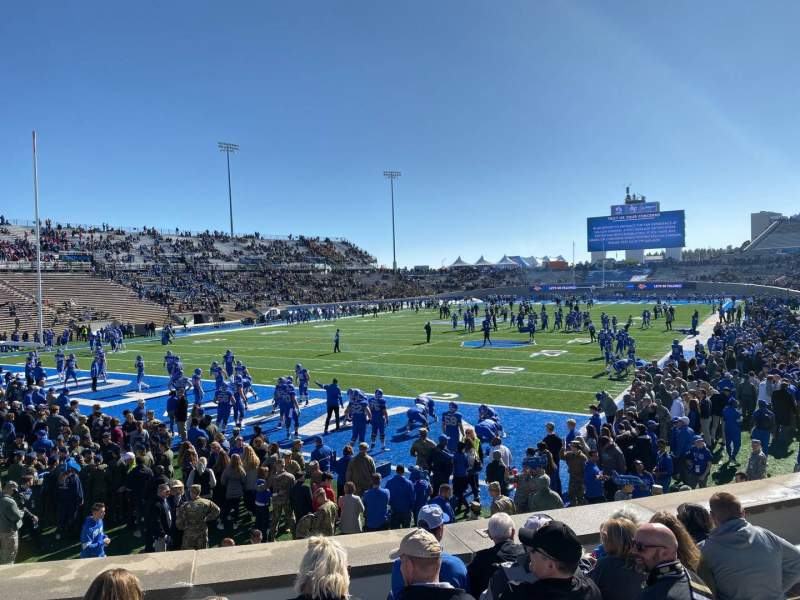 Seating view for Falcon Stadium Section L13 Row J Seat 7