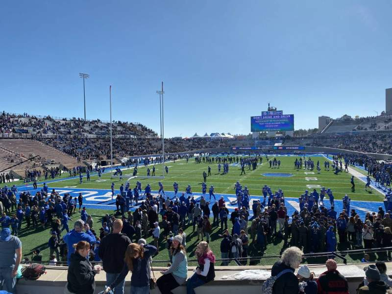 Seating view for Falcon Stadium Section L14 Row H Seat 15