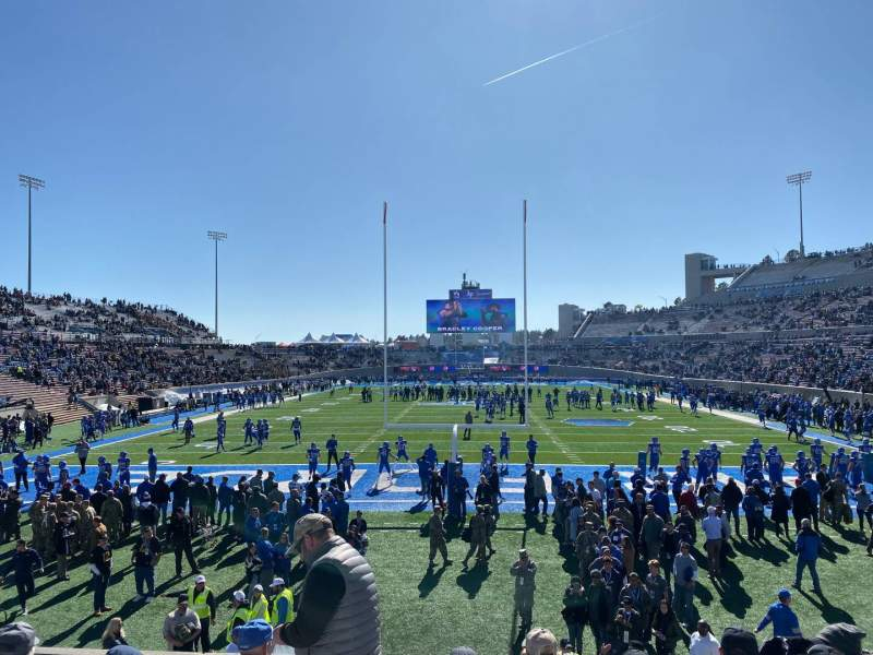 Seating view for Falcon Stadium Section L15 Row H Seat 14