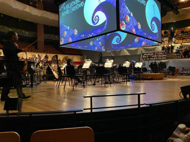 Seating view for Boettcher Concert Hall Section Orch 1 Row E Seat 19