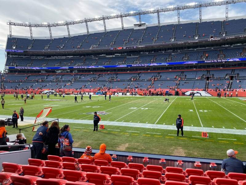 Seating view for Empower Field at Mile High Stadium Section 120 Row 8 Seat 15