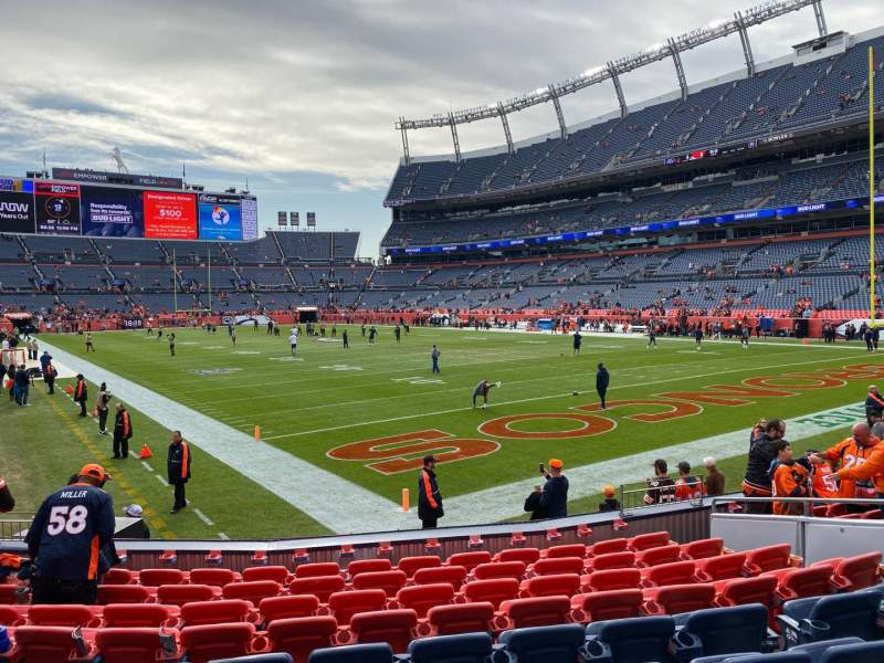 Seating view for Empower Field at Mile High Stadium Section 117 Row 10 Seat 10