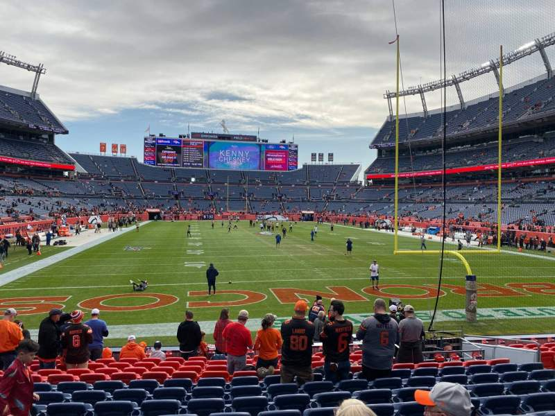 Seating view for Empower Field at Mile High Stadium Section 115 Row 14 Seat 12