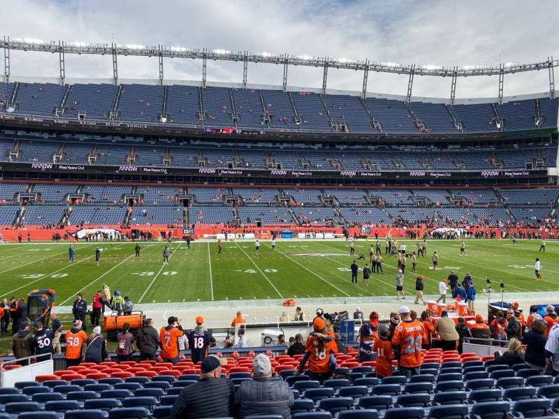 Seating view for Empower Field at Mile High Stadium Section 106 Row 16 Seat 14