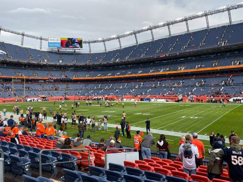 Seating view for Empower Field at Mile High Stadium Section 101 Row 11 Seat 9