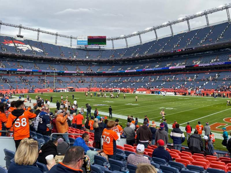 Seating view for Empower Field at Mile High Stadium Section 100 Row 12 Seat 21