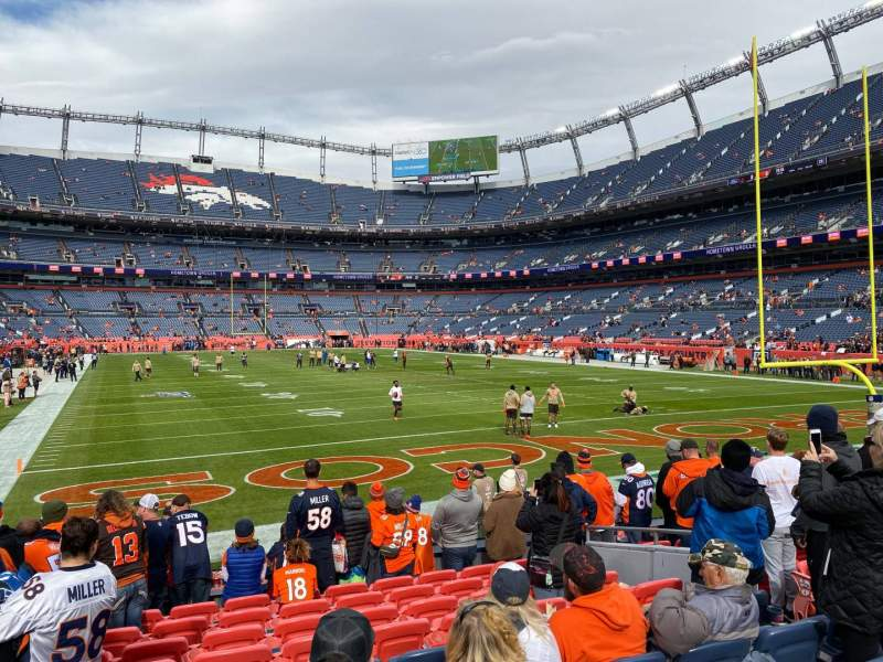 Seating view for Empower Field at Mile High Stadium Section 134 Row 10 Seat 8