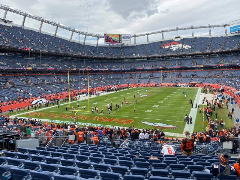 Seating view for Empower Field at Mile High Stadium Section 130 Row 37 Seat 7