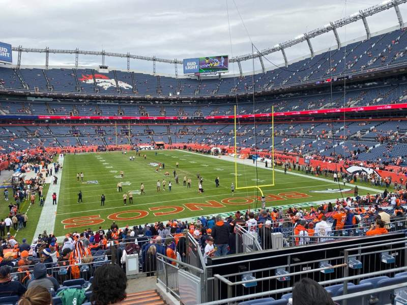 Seating view for Empower Field at Mile High Stadium Section 134 Row 34 Seat 5