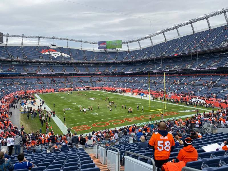 Seating view for Empower Field at Mile High Stadium Section 135 Row 41 Seat 2
