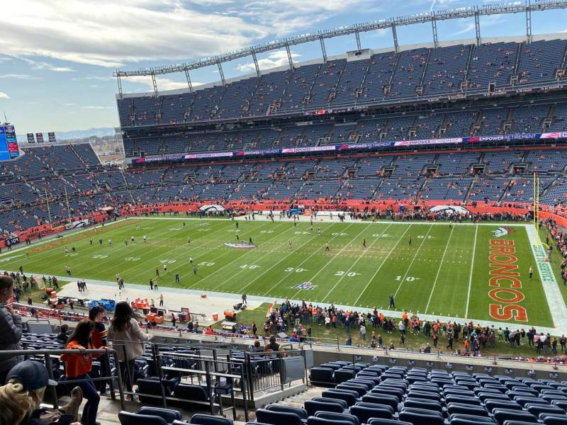 Seating view for Empower Field at Mile High Stadium Section 332 Row 15 Seat 9