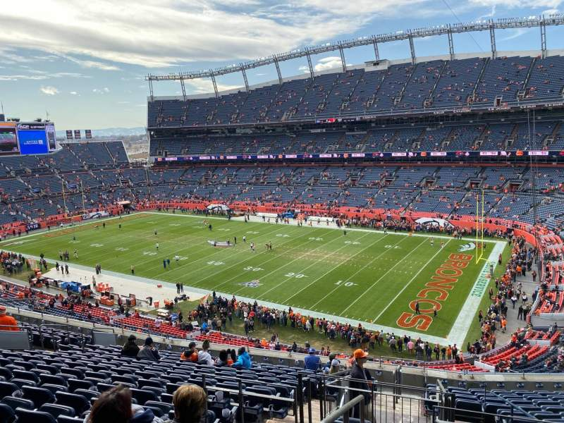 Seating view for Empower Field at Mile High Stadium Section 330 Row 15 Seat 22