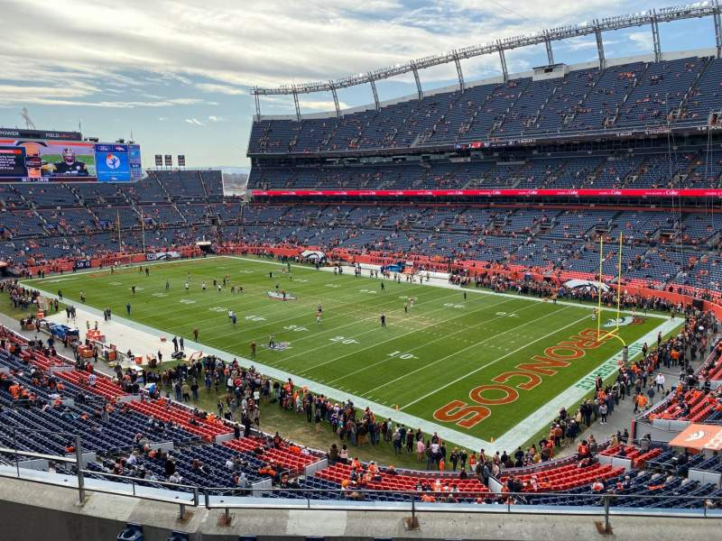 Seating view for Empower Field at Mile High Stadium Section 329 Row 5 Seat 9