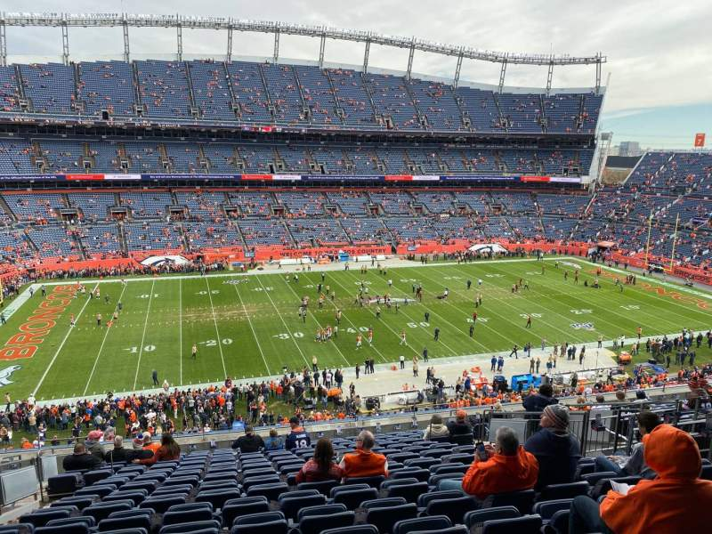 Seating view for Empower Field at Mile High Stadium Section 312 Row 16 Seat 10