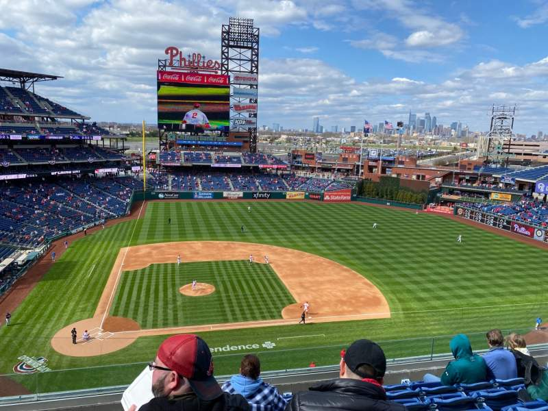 Seating view for Citizens Bank Park Section 316 Row 17 Seat 18