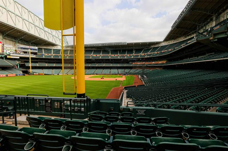 Seating view for Minute Maid Park Section 104 Row 6 Seat 8