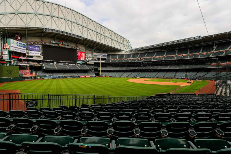 Seating view for Minute Maid Park Section 106 Row 18 Seat 9