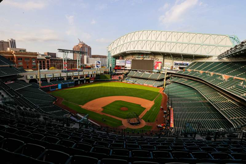 Seating view for Minute Maid Park Section 417 Row 8 Seat 10