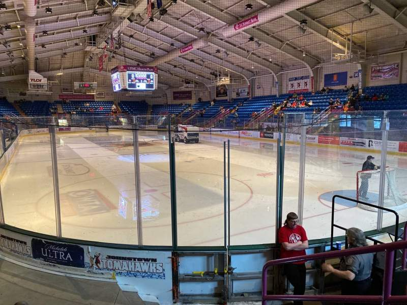 Seating view for 1st Summit Arena Section 8 Row E Seat 1