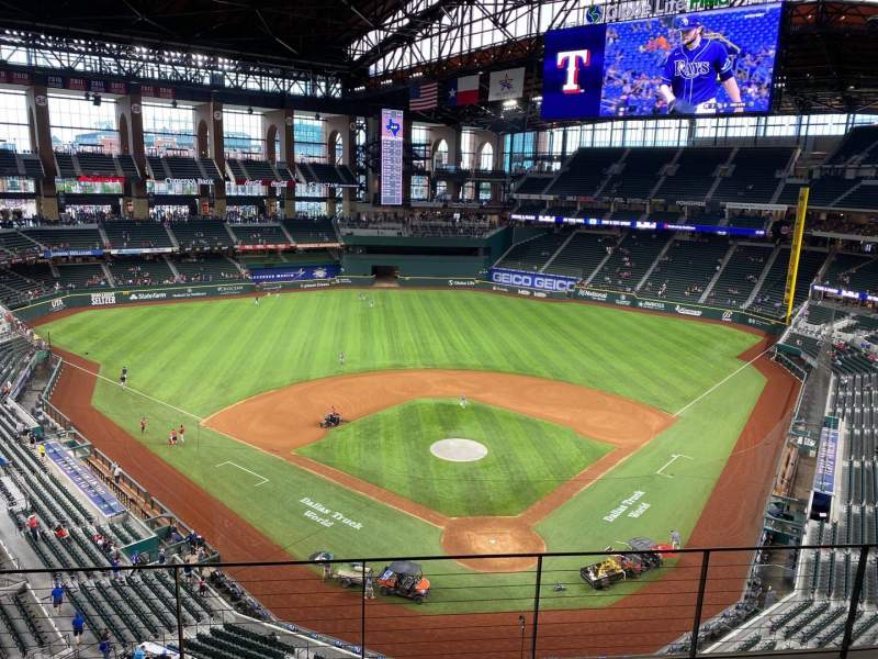 Seating view for Globe Life Field Section 216 Row 5 Seat 12