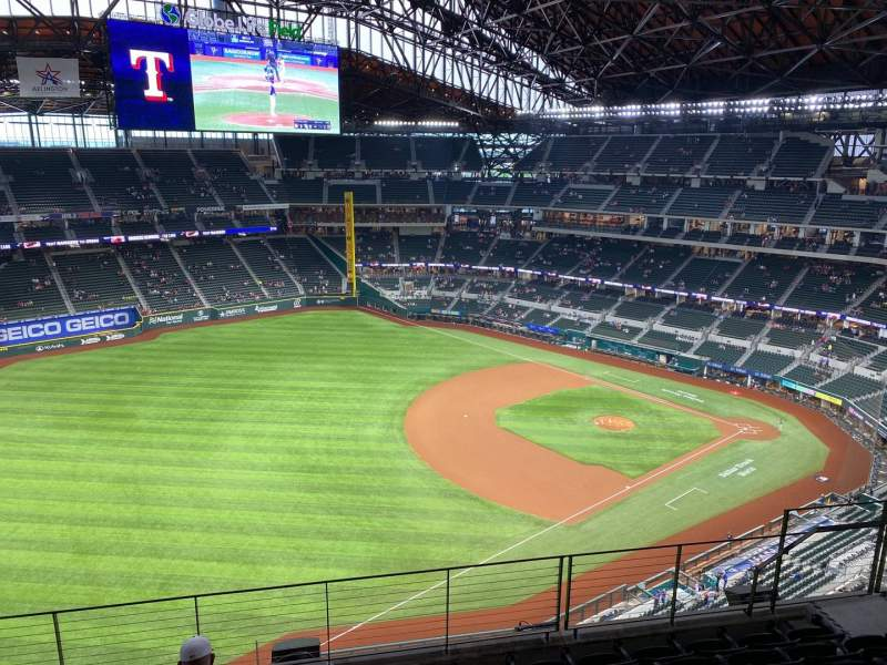 Seating view for Globe Life Field Section 302 Row 7 Seat 10