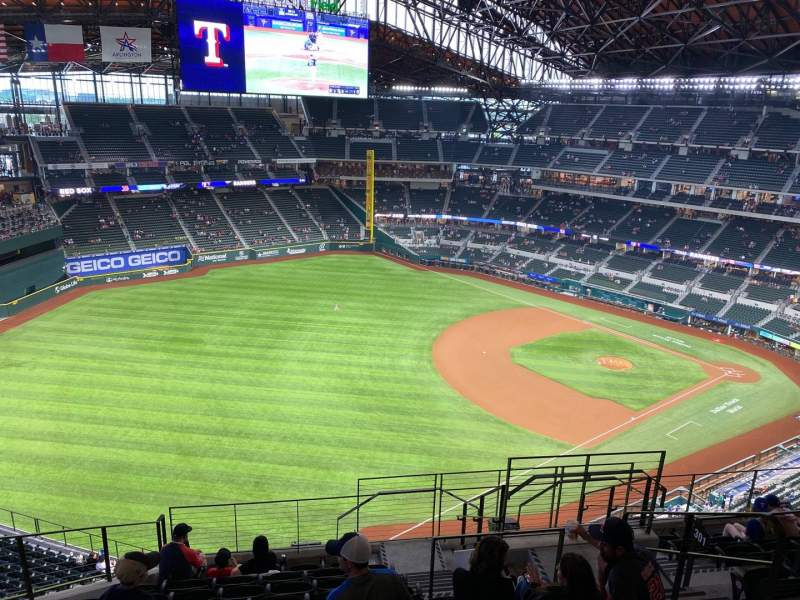 Seating view for Globe Life Field Section 301 Row 10 Seat 8