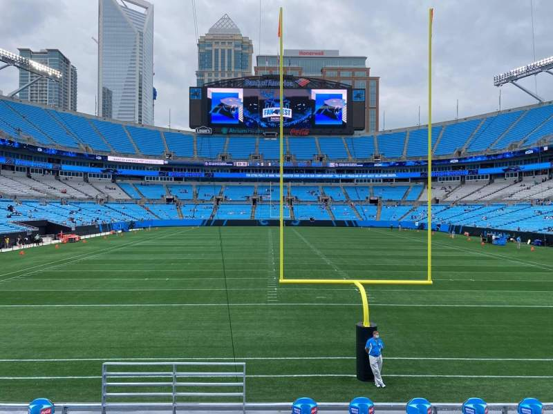 Seating view for Bank of America Stadium Section 101 Row 13 Seat 24