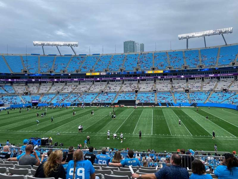 Seating view for Bank of America Stadium Section 342 Row 9 Seat 6